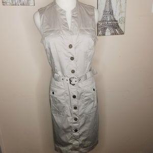 Banana Republic Sleeveless Cargo Dress Size 8